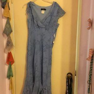 Used blue dress